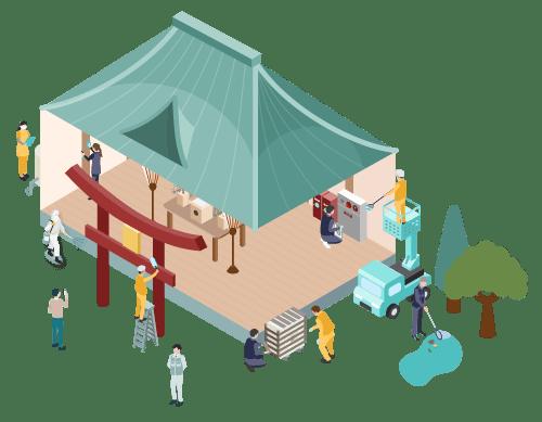 寺社・仏閣 イメージアイコン