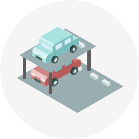 立体駐車場のイメージ