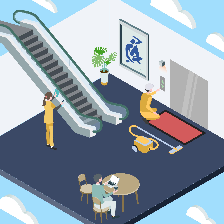 昇降機清掃・整備イメージ